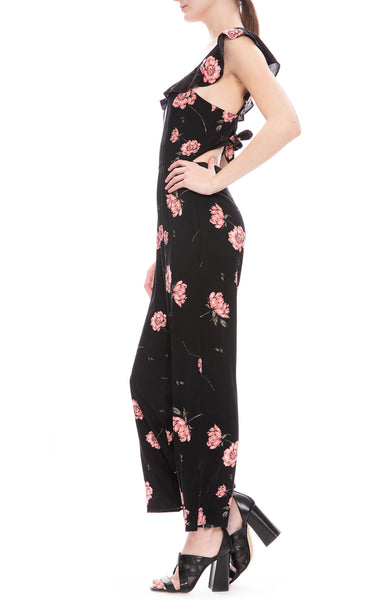 Amuse Society Sweet November Jumpsuit in Black Floral