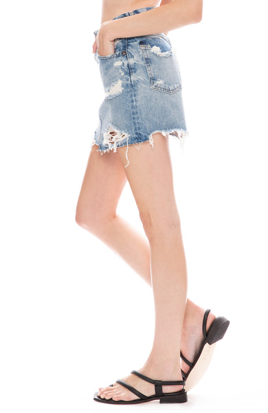 Markly Denim Mini Skirt