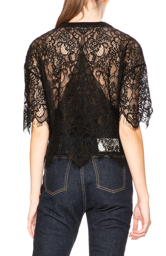 Jonathan Simkhai Lace Combo Top at Ron Herman