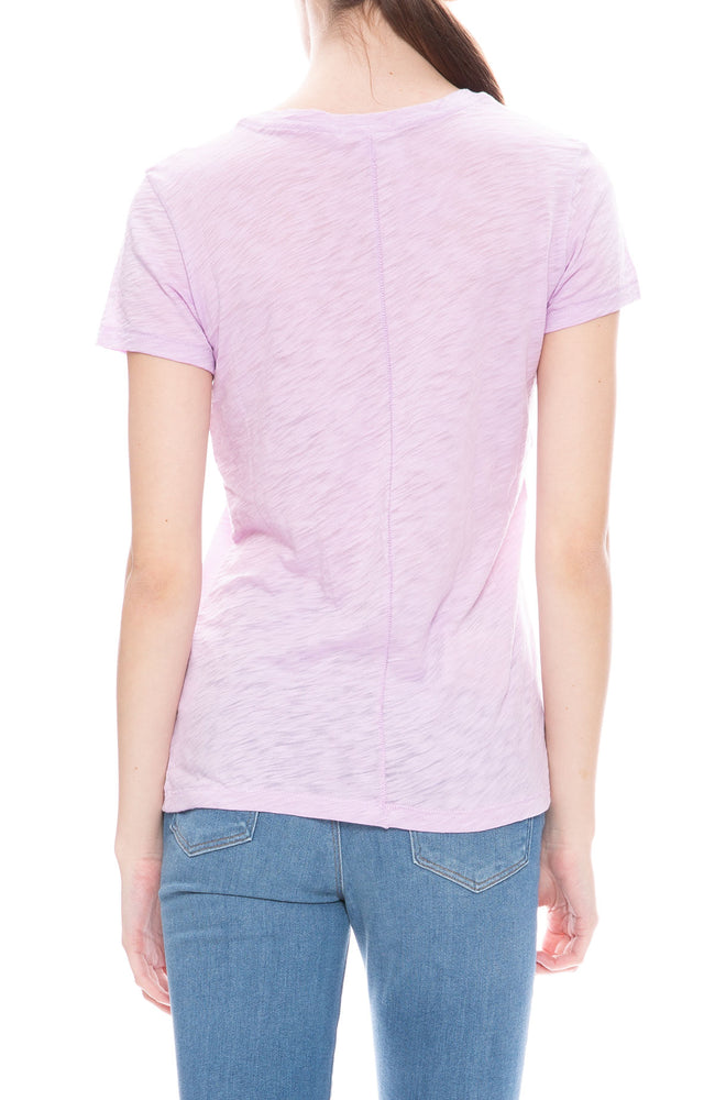 Goldies Classic V-Neck T-Shirt in Wisteria Purple