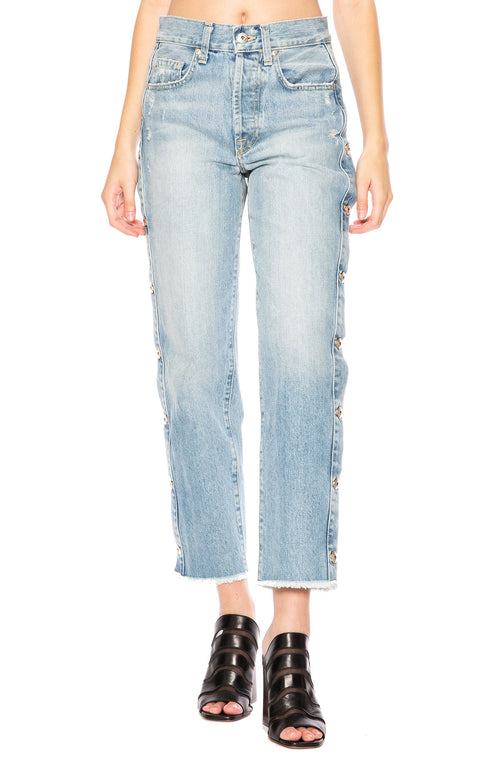 Jonathan Simkhai Denim Button Down Pants at Ron Herman