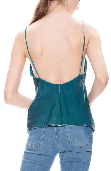 Le Superbe Nomad Velvet Cami in Blue