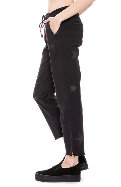 Sundry La Fete Star Pants in Washed Black at Ron Herman