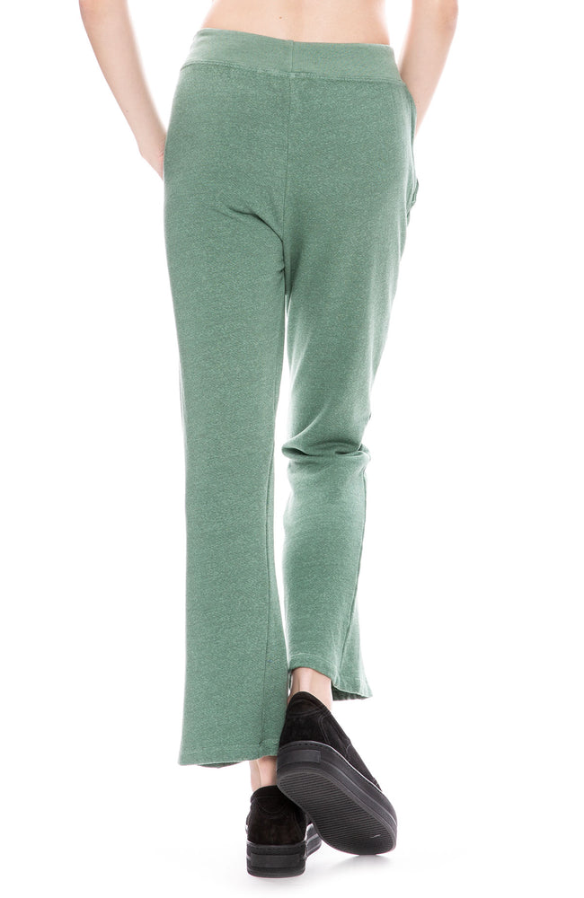 Sundry Crop Pintuck Sweatpants in Agave Green at Ron Herman