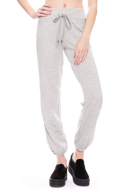 Sundry Rainbow Stripe Sweatpants in Heather Grey at Ron Herman