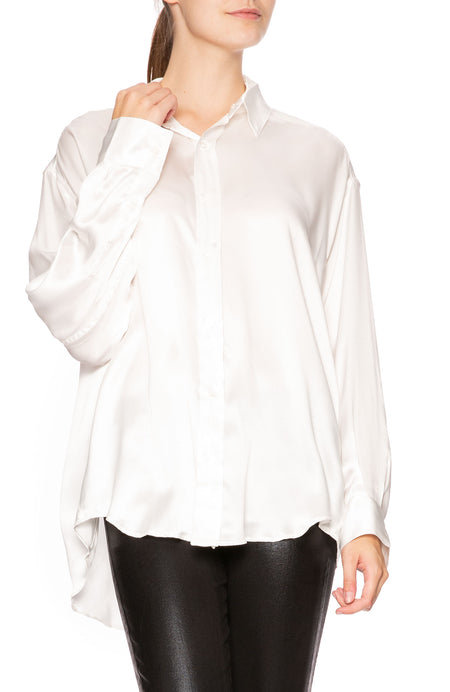 Nicola Silk Satin Blouse