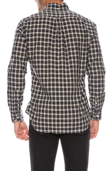 Cotton Cupro Plaid Shirt