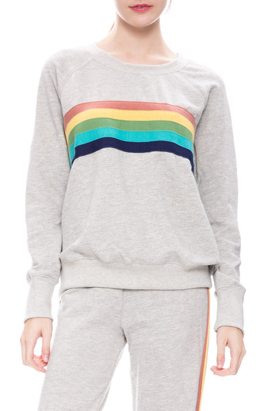 Sundry Rainbow Stripe Sweatshirt at Ron Herman