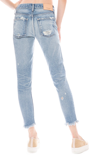 Moussy Vintage MV Kelley Tapered Jean in Light Blue