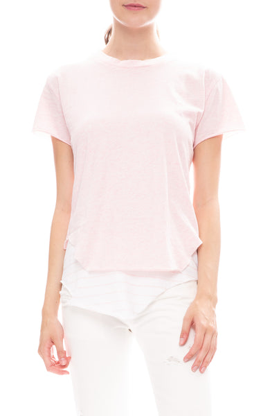 Frank & Eileen Tee Lab Round Hem Jersey Tee in English Rose Melange