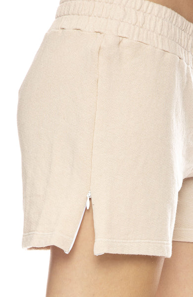 Side Zip Sweatshorts