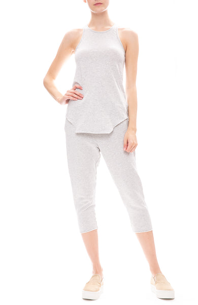 Frank & Eileen Tee Lab Jersey Tank Top with Triple Fleece Sweatpants in Grey Melange