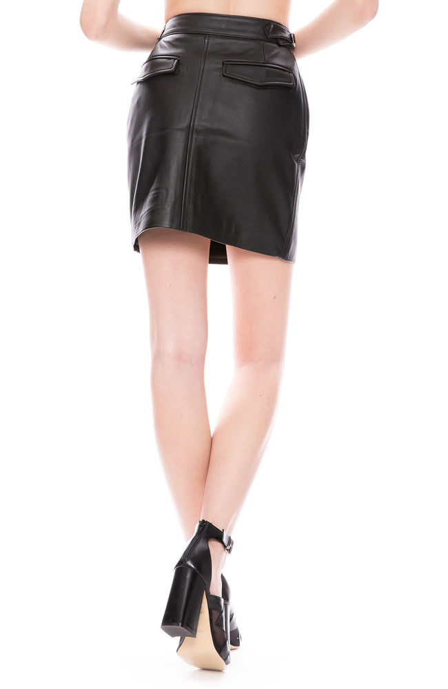 Officine Generale Leather Mini Skirt at Ron Herman