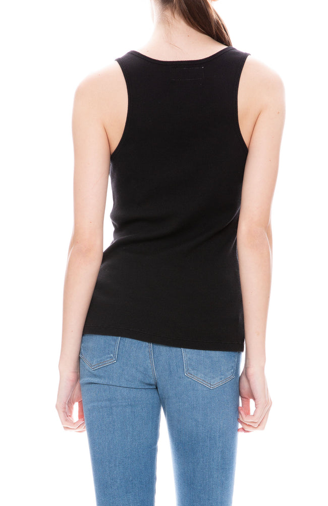 Thais Ribbed Cotton Tank