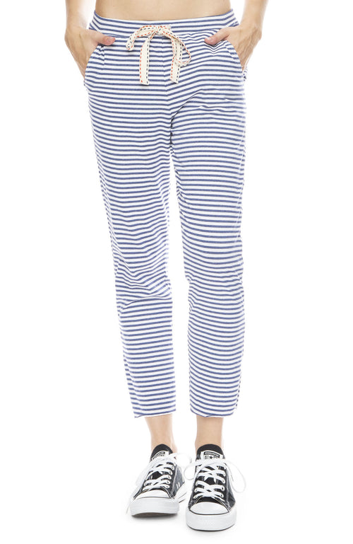 Striped Split Hem Sweatpants
