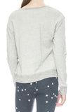 Sundry Uneven Hem Pullover Sweatshirt in Heather Grey