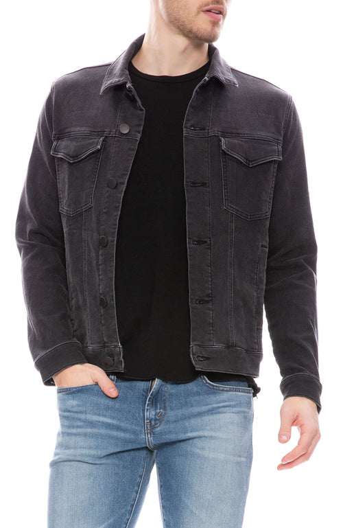 J Brand Mens Corporus Denim Jacket in Stannum