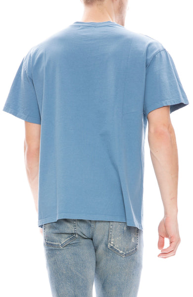 John Elliott Mens Basalt T-Shirt in Dusty Blue
