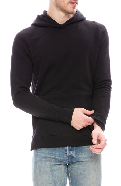 John Elliott Mens Hooded Villian Sweatshirt in Black