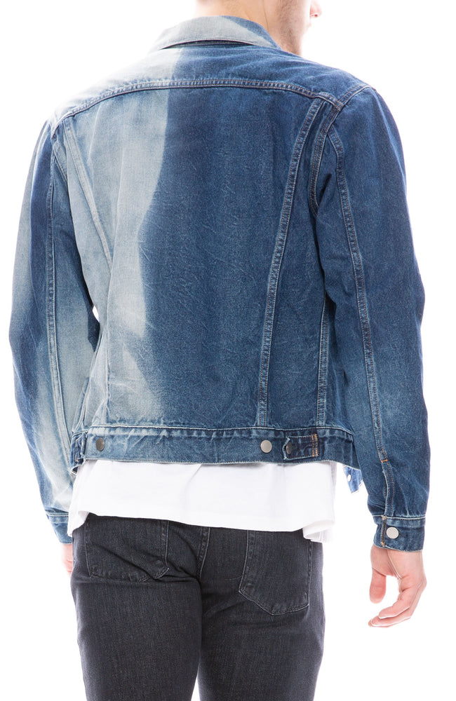 John Elliott Mens Thumper Jacket Type III in Bleached Indigo