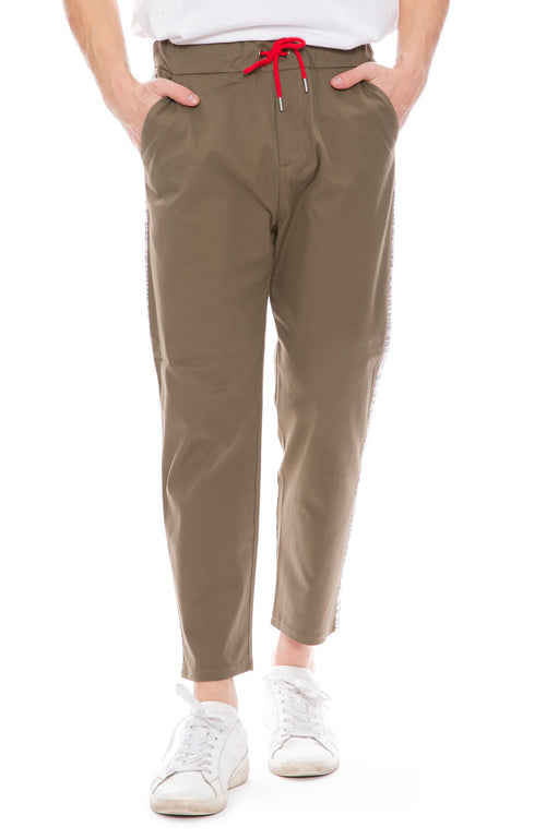 78 Stitches Mens Carrot Pants in Army Green