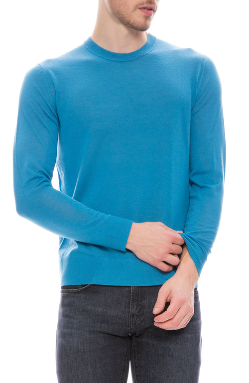 Acne Studios Mens Merino Pullover Sweater in Turquoise