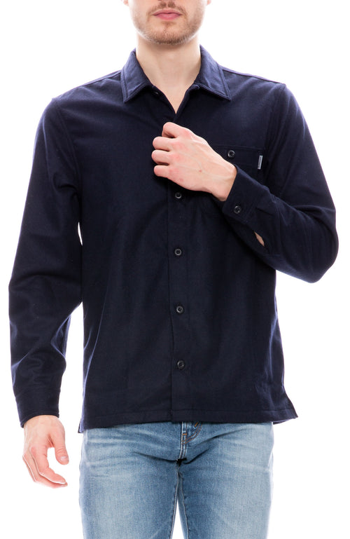 Carhartt WIP Mens Stover Shirt in Dark Navy