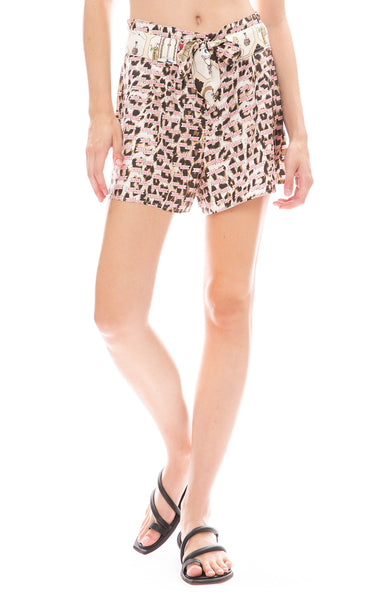 La Prestic Ouiston Kiss Love Mumbai Tie Shorts