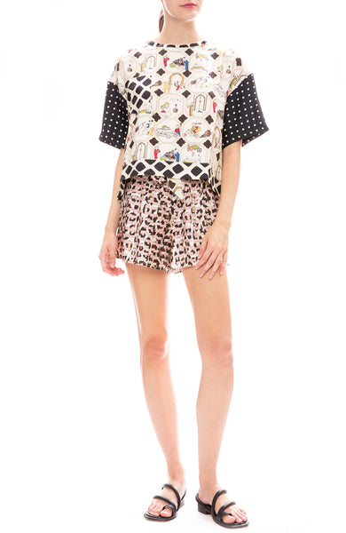 La Prestic Ouiston Kiss Love Mumbai Tie Shorts with Today Shirt