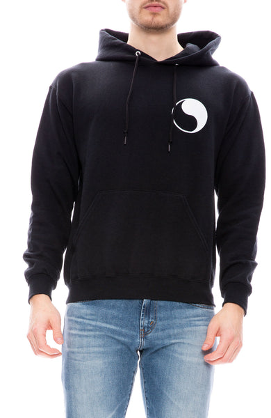 Free & Easy Mens Don't Trip Hoodie in Black