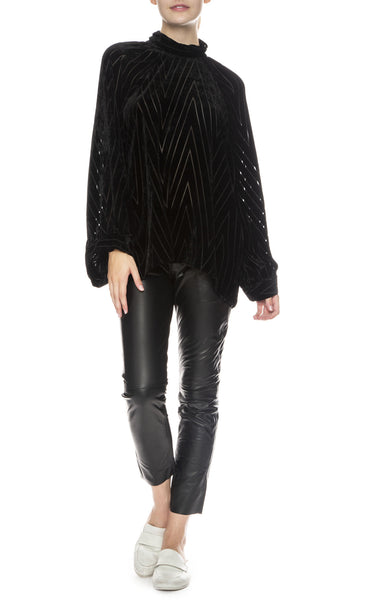 NIli Lotan Elianna Top with East Hampton Leather Pants