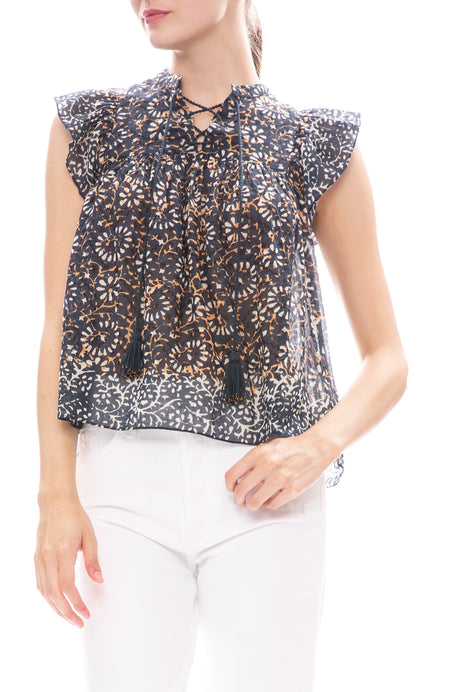 Opal Flutter Sleeve Top