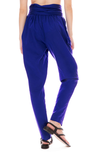 Black Crane Multi Pants in Marine Blue