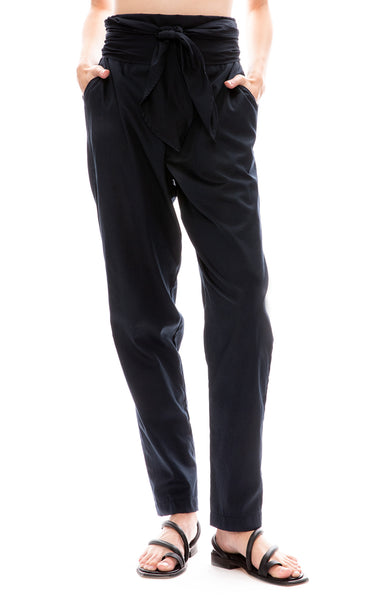 Black Crane Dark Navy Multi Pants