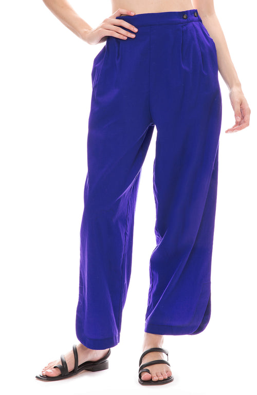 Black Crane Easy Pants in Marine Blue