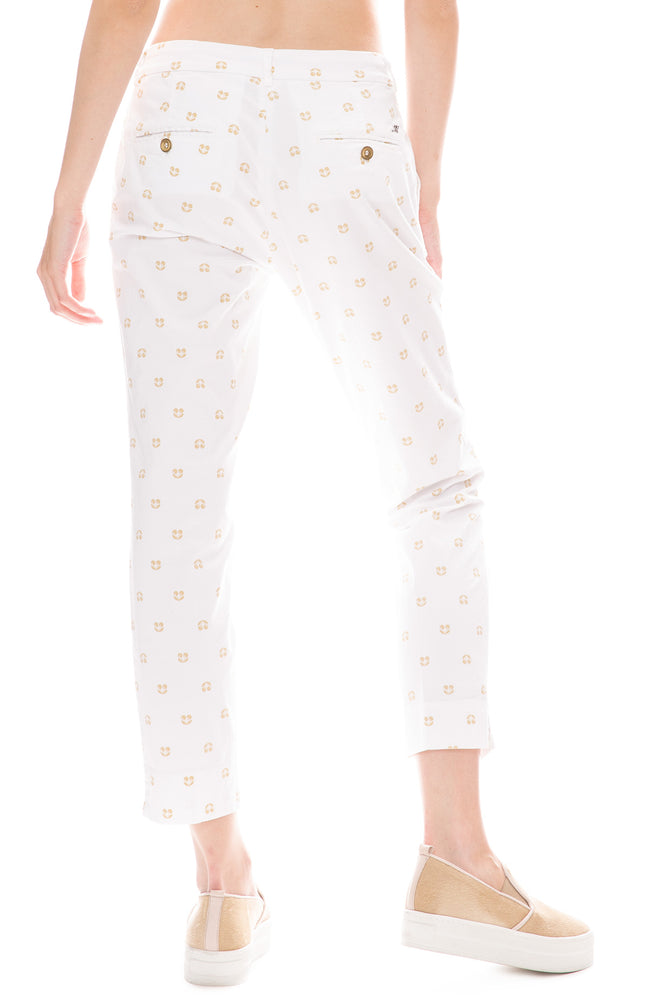 Masons White Cherry Print Trouser Pants
