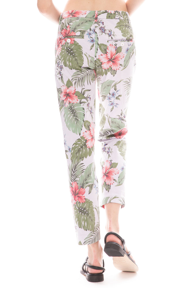 Masons Floral Hibiscus Purple Trouser Pants