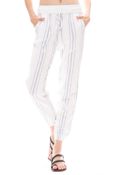 Star Mela Bebe Embroidered Pants