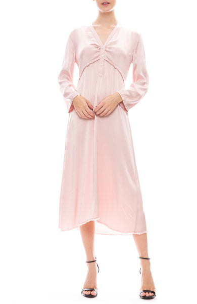 Raquel Allegra Camille Long Sleeve Dress in Rose
