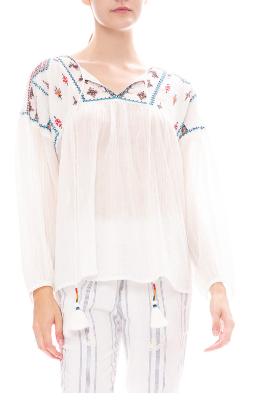 Star Mela Sierra Embroidered Top