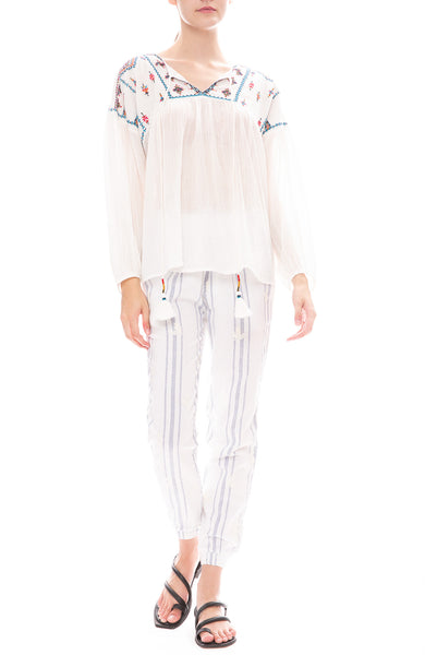 Star Mela Sierra Embroidered Top with Bebe Embroidered Trouser Pants