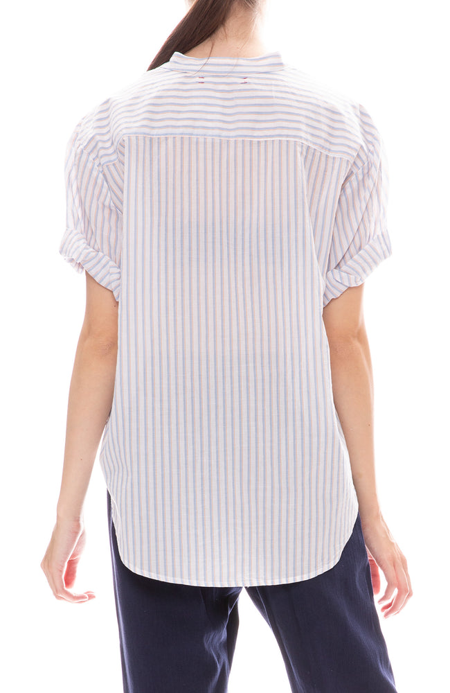 Kayden Striped Roll Sleeve Top