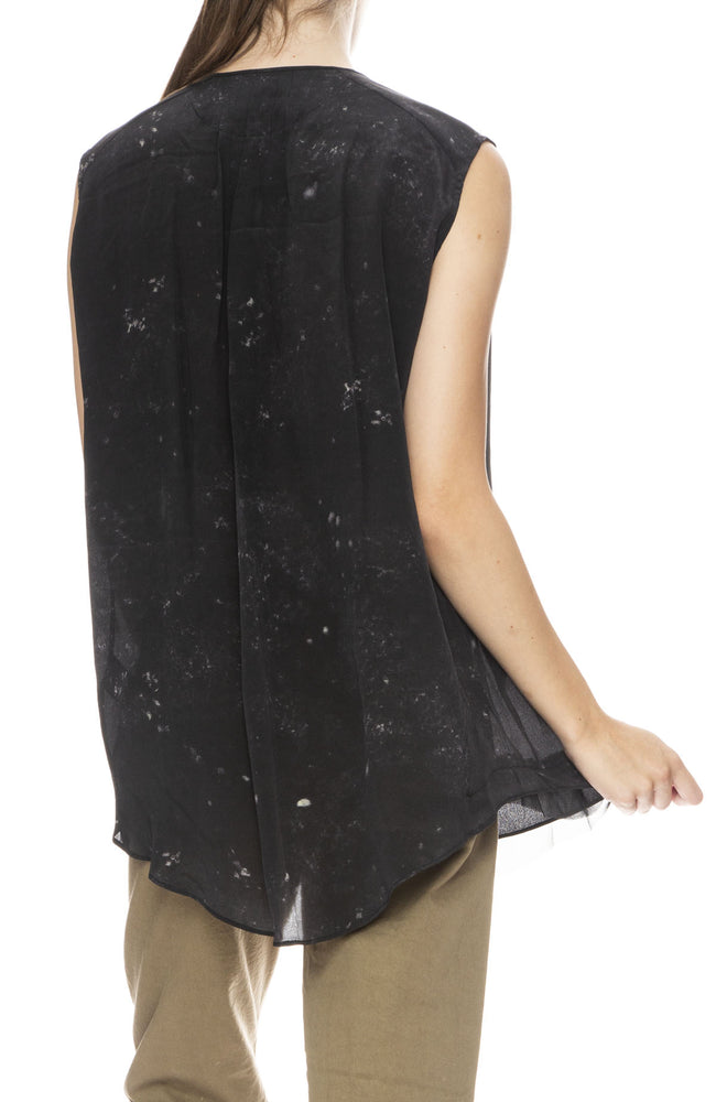 Pas De Calais Sleeveless Silk Top