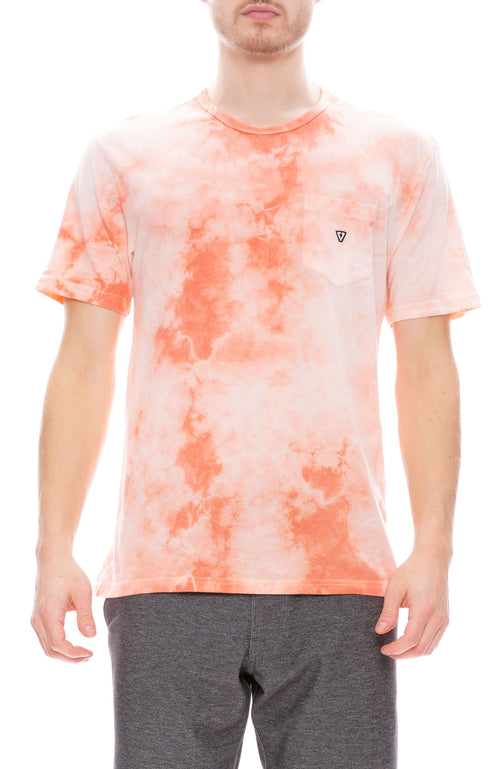 Vissla Calipher Embroidery Tie Dye Tee in Pog