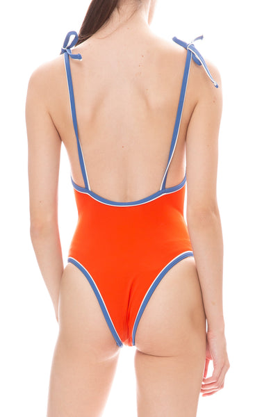 Solid & Striped Poppy One-Piece Swimsuit