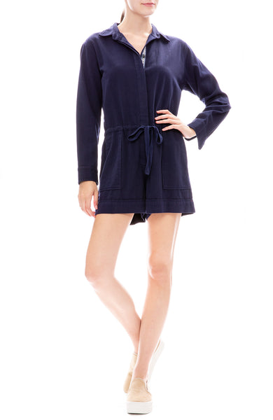 Xirena Georgia Twill Romper in Blue Star