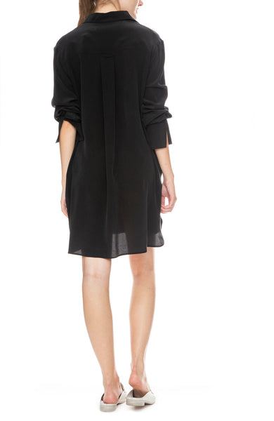 Soto Silk Shirt Dress