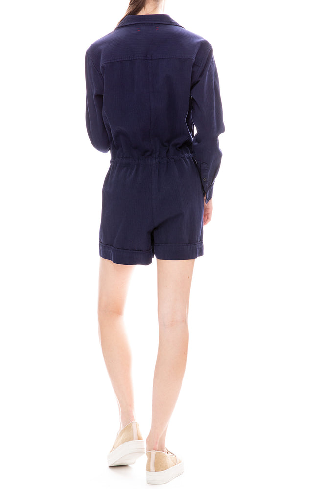 Xirena Georgia Blue Star Twill Romper
