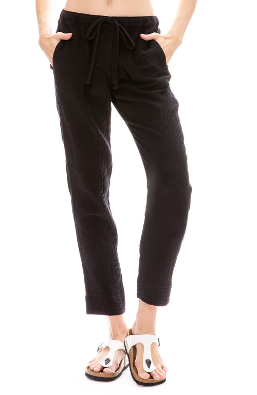 Xirena Jordyn Gauze Pants in Black