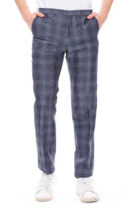Tonal Plaid Suit Pant